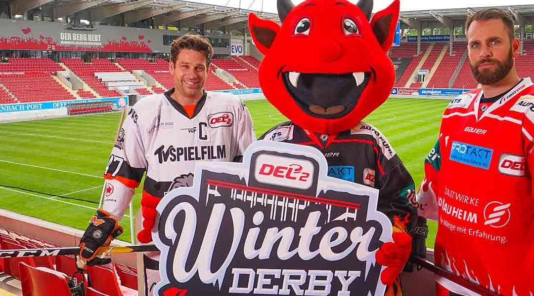 """Der Countdown läuft – das Winter-Derby naht! Teufel gegen Löwen – """"Warm up-Battles"""" zur Einstimmung auf den großen Tag."""