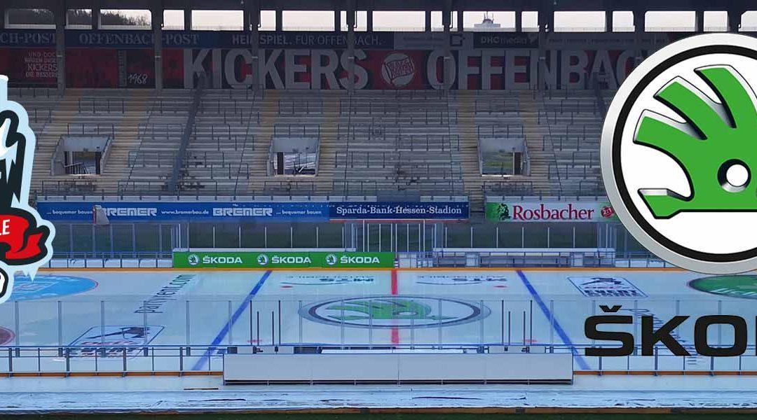 Eishockey: ŠKODA ist Premiumpartner des WINTER-DERBY auf dem Bieberer Berg in Offenbach am Main