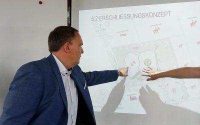 Die Stadtverwaltung und der EC Bad Nauheim konkretisieren Neubaupläne in einer Projekt-Skizze