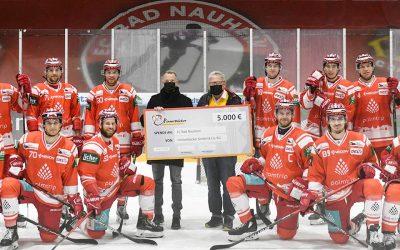 Unser Supporter Hinnerbäcker ist aus der Region und steht für die Region. Großzügige 5.000 €-Spende an den EC Bad Nauheim