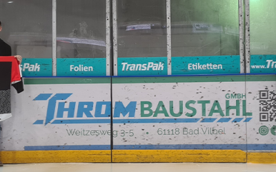 Throm Baustahl wird Partner des EC Bad Nauheim