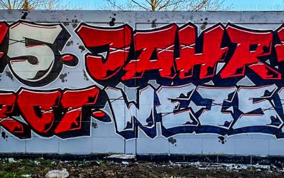 Ein teuflisches Graffiti für die Kurstadt