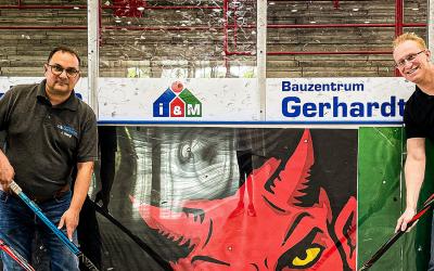 20 Jahre Treue – das Gerhardt Bauzentrum bleibt Partner der Roten Teufel